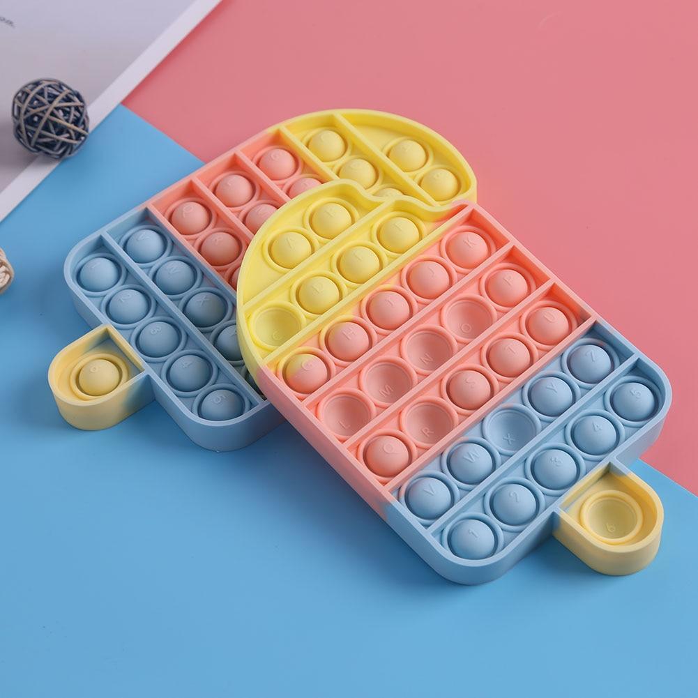 Push Bubble Fidget Toys  Stress Relief Sensory Toy Antistress Fidgets Ice Cream Board Soft Squishy Bubble Anti-Stress Game