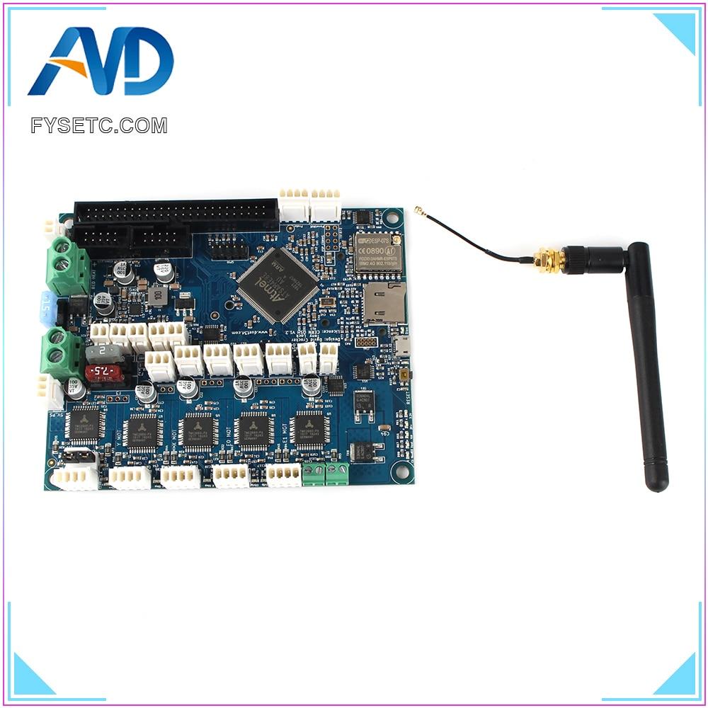 Placa controladora de actualización Duet 2 Wifi V1.04, DuetWifi, placa madre avanzada de 32 bits para impresora 3D, máquina CNC