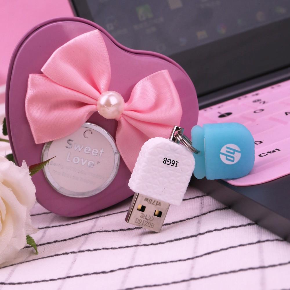Oryginalny HP śliczne silikonowe galaretki U dysku 8GB 16GB 32GB 64GB USB flash jazdy Pendrive USB 2.0 flash pendrive