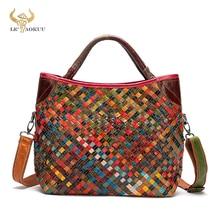 Trend Colorful Soft Leather Famous Brand Luxury Ladies Patchwork Large Purse Handbag Shoulder bag Wo
