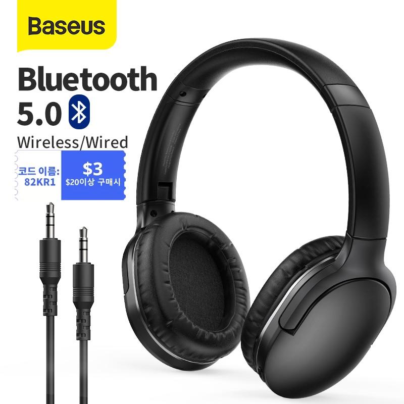 Baseus D02 برو سماعات لاسلكية بلوتوث سماعة 5.0 طوي سماعة سماعات رأس رياضية الألعاب الهاتف Fone سماعات بلوتوث