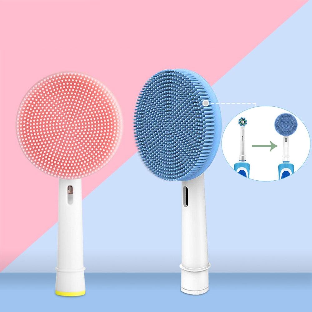 Adecuado para Oral-B D12 D20 cepillo de dientes eléctrico, cepillo de limpieza Facial de silicona, limpiador Facial, cepillo de dientes eléctrico de reemplazo