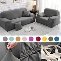 pure grey sofa cover cotton set elastic couch cover sofa covers for living room pets cubre armchair sofa covers elastic stretch