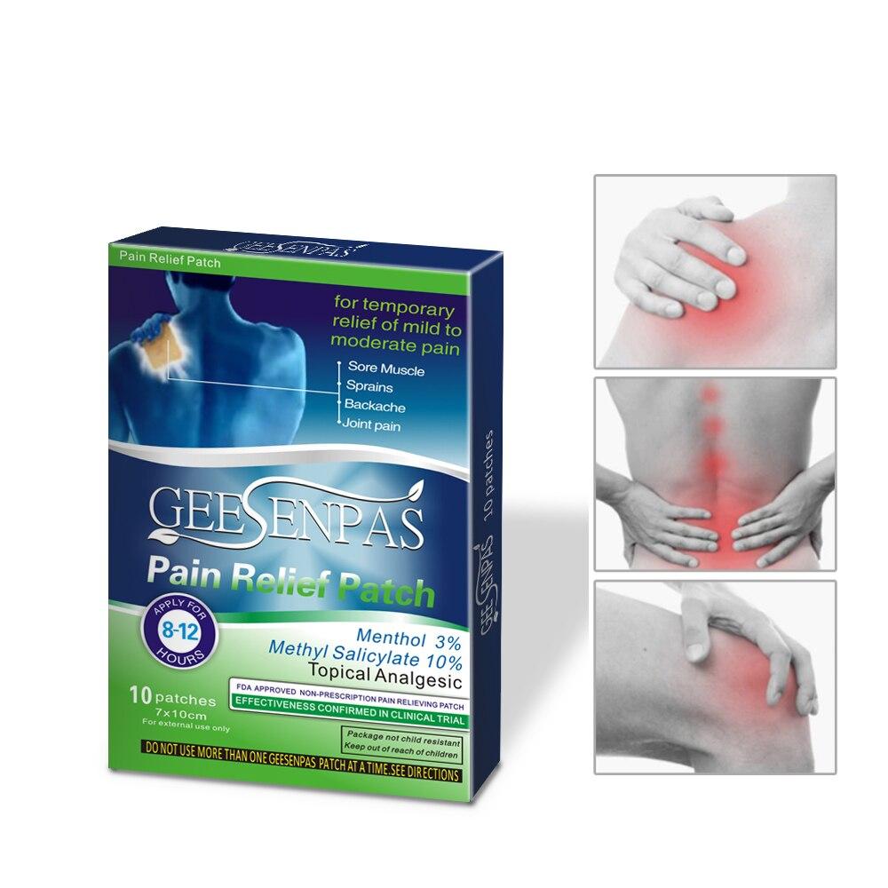 Yeso Herbal para aliviar el dolor de rodilla, paquete de alivio para el dolor de espalda de alta calidad para artritis, 100 Uds./10 cajas