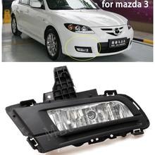 MIZIAUTO Front Bumper Fog Light Fog Lamp Daytime Running Driving Fog Light For Mazda 3 M3 2007 2008 2009 2010 Foglights 12V 51W