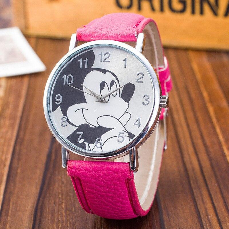 ¡Novedad de 2019! Relojes de moda para niños con diseño de ratón de MEIBO, reloj analógico con correa de cuero informal, reloj de pulsera de cuarzo Bayan Kol Saati