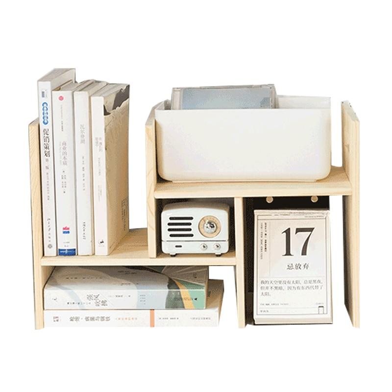 DIY Wooden Book Shelves Desk Organizer Office School Desk Accessories Organizer Tray Book Holder Storage Tray Makeup Organizer