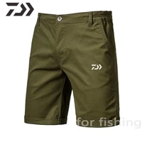 2021 new men daiwa shorts summer fishing clothes breathable fishing shorts cotton casual shorts plus size solid mens clothing
