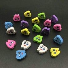 20 pièces caoutchouc gommes à dents en forme molaire, gommes à dents, dentiste et clinique dentaire, cadeau pour école pour étudiant