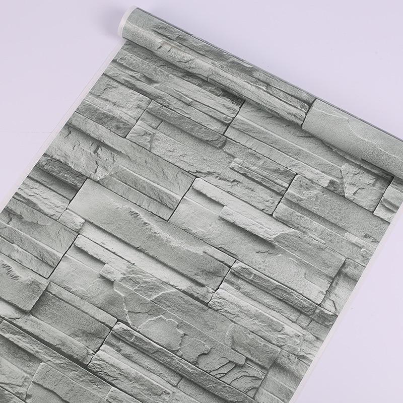 10M impermeable 3D ladrillo papel de pared hogar Decoración sala de decoración de fondo de TV PVC vinilo Mural de pared de piedra de arte