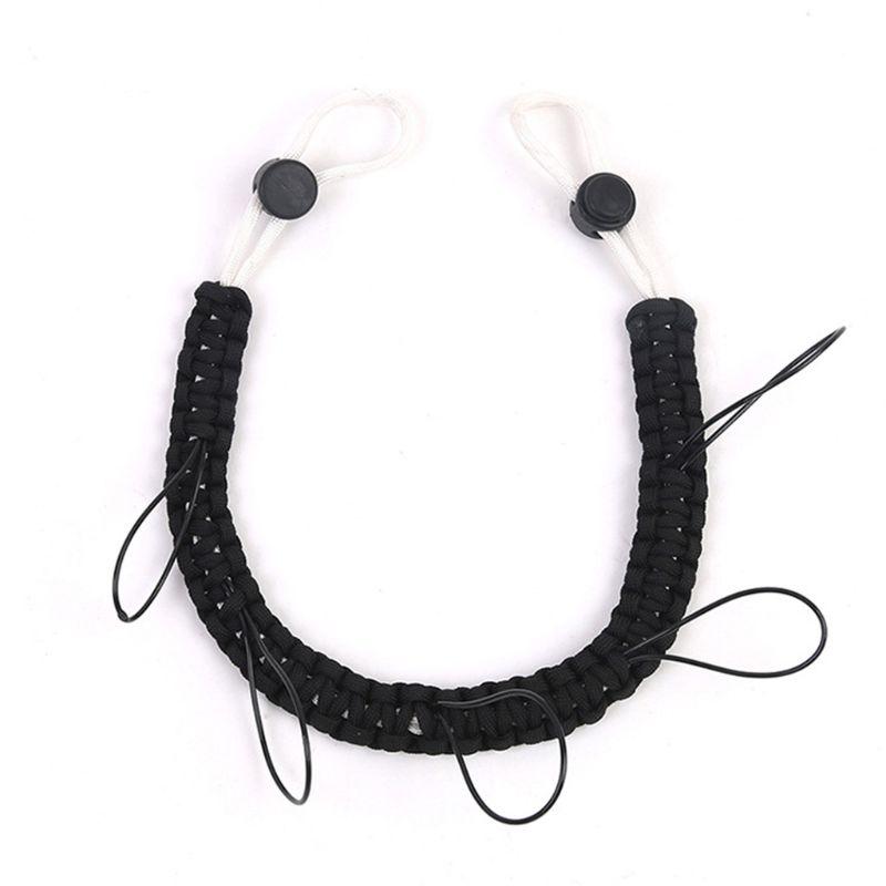 Élastique mouche pêche lanière Combo bobine Tippet support collier outil de pêche Polyester tressé ligne avec camouflage couleur 5 crochets