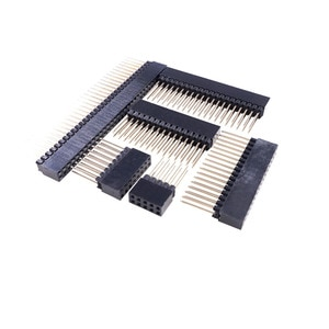 50 Pcs PC104 Header Female Pin 8 10 16 20 30 32 40 64 80 Socket 2.54 Pitch Length 12 MM Strip Dual Row Straight Stack Long Tail