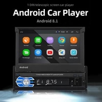 car radio gps bluetooth 4 0 7inch install app capacitive telescopic screen touch foldable reversing image android 8 1