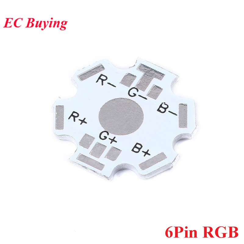 10 stücke 1W 3W 5W Kühlkörper Kühlkörper LED Aluminium Basis Platte RGB RGBW LED PCB Board für Kühlung Kühlkörper LED Diode 6 P 6Pin 6 Pin