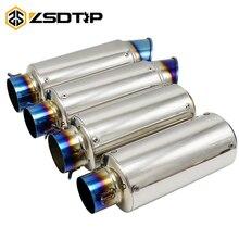 ZSDTRP 51 مللي متر 60 مللي متر العالمي للدراجات النارية SC الهروب موتوكروس سكوتر SC خمار ماسورة العادم ل FZ6 النينجا cbr650f cb400 s1000r