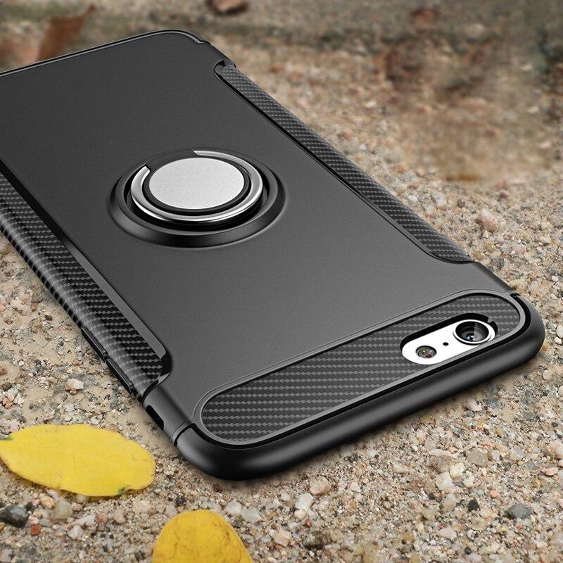 Броня телефона чехол для iPhone 11 Pro Max Обложка палец кольцо автомобиля Магнит протектор для iPhone 6S 7 8 Plus X XR XS MAX Обложка 7plus
