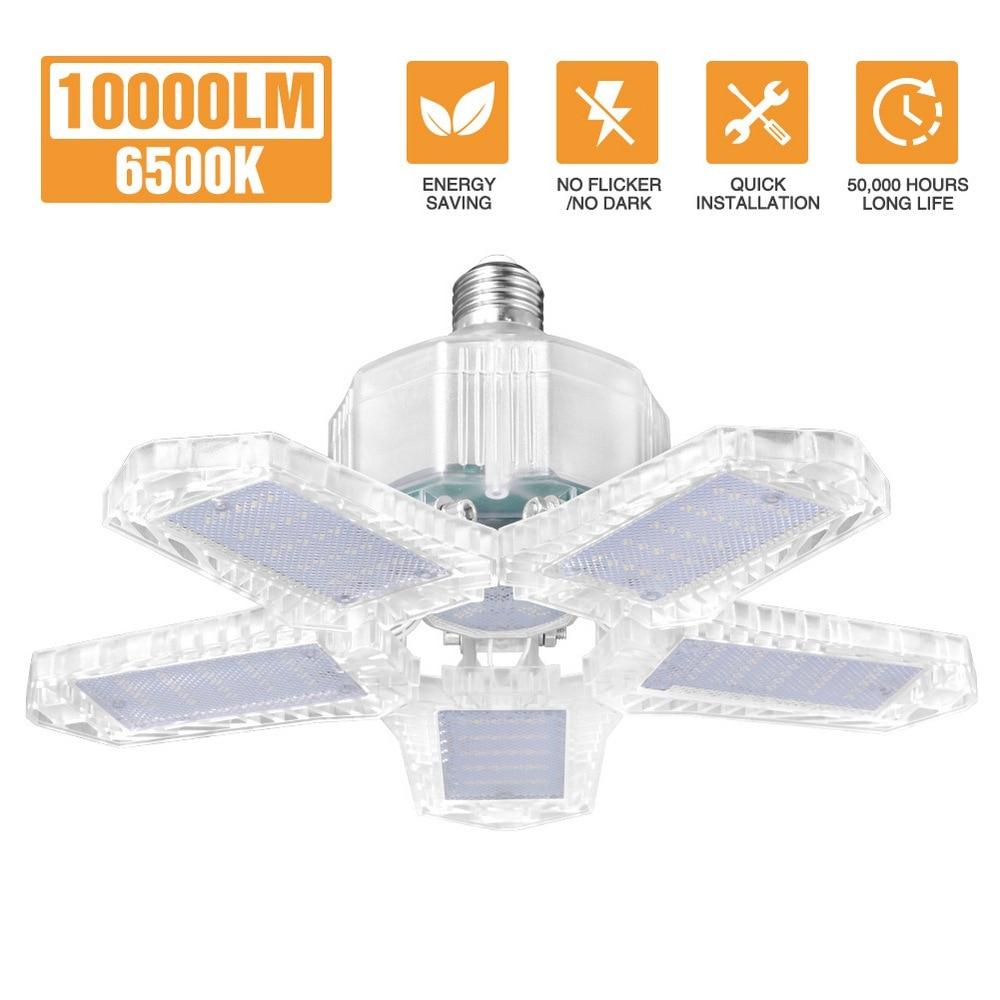 interior 80w e26 deformable folding fan blade led trabalho luz ac85 265v dobravel