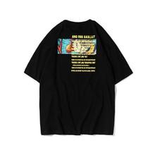 2020 Summer Mens Letter Printed Oversized T Shirt 100%Cotton Streetwear Women Black t shirt Unisex Short Sleeve Couples Top tees