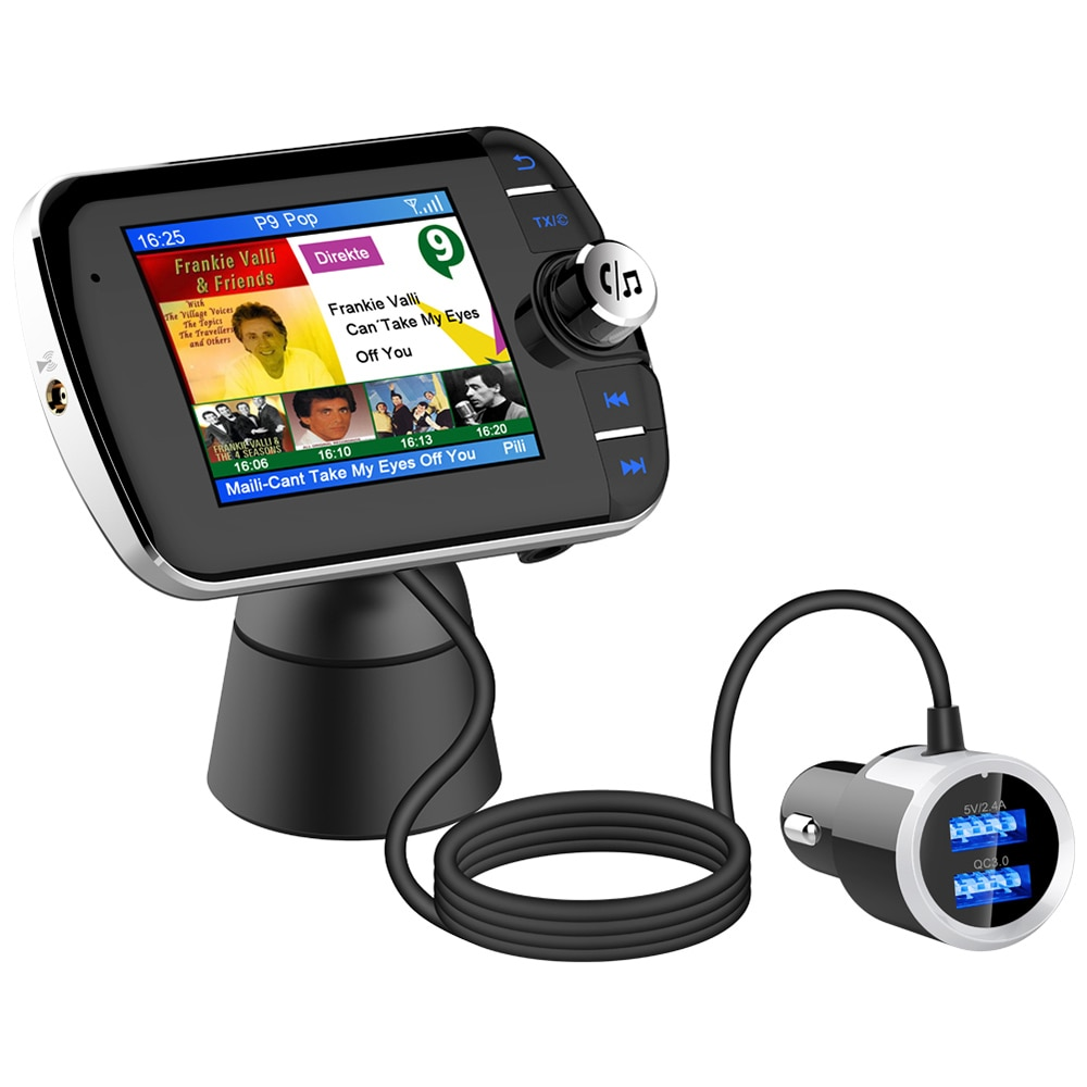 DAB receptor de Radio Digital LCD pantalla a Color DAB004 DAB receptor BT adaptador de Radio soporte MP3 música cargador USB para coche