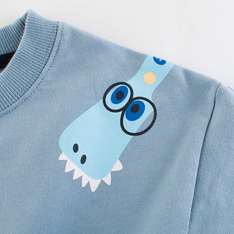 2021 New Children Long Sleeve Top Autumn Clothes Cute Cartoon Cotton Coats 2-8y Kids Baby Boys For Girls Pullover Sweatshirts