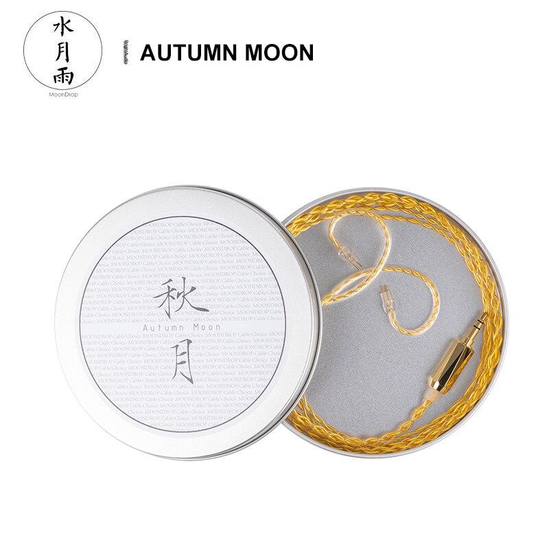 Moondrop الخريف القمر سماعة ترقية كابل 0.78 مللي متر 2 دبوس الذهب مع مطلي أورينت النحاس ل Blessing2 A8 S8 KXXS سترفيلد