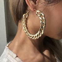 big circle chain earrings dangle 2021 trend goth polynesian for women jewelry womens accessories with free shipping earings set