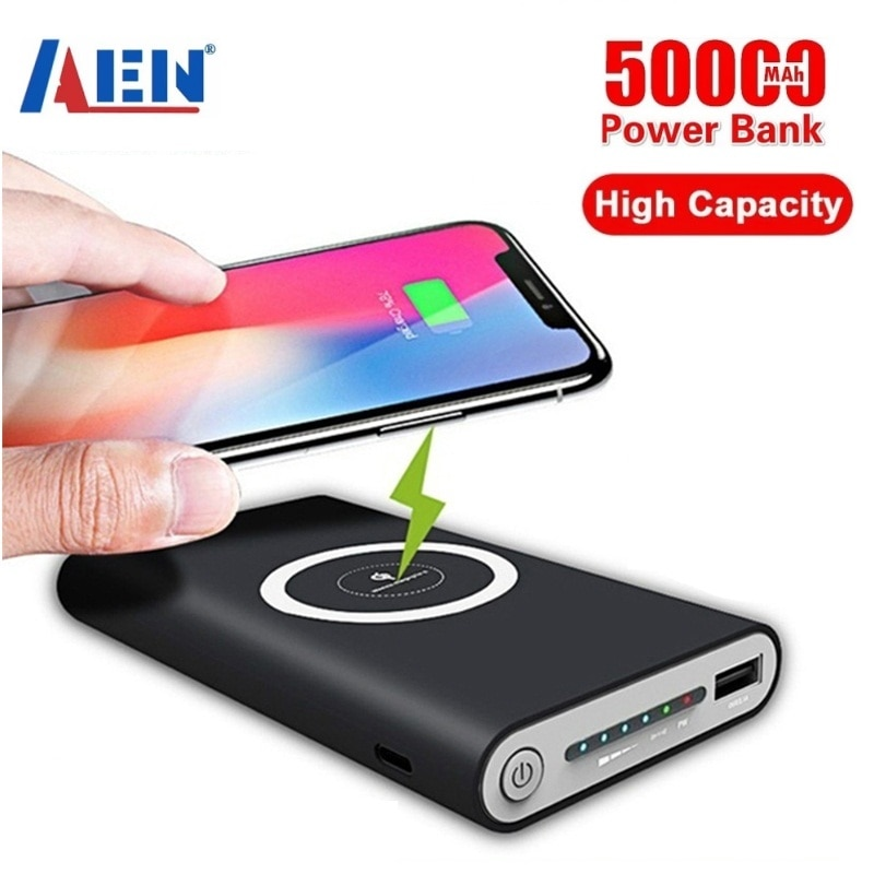 Wireless Charger Power Bank 50000mAh For smart phone Fast Charger Portable Powerbank Mobile Phone Ch