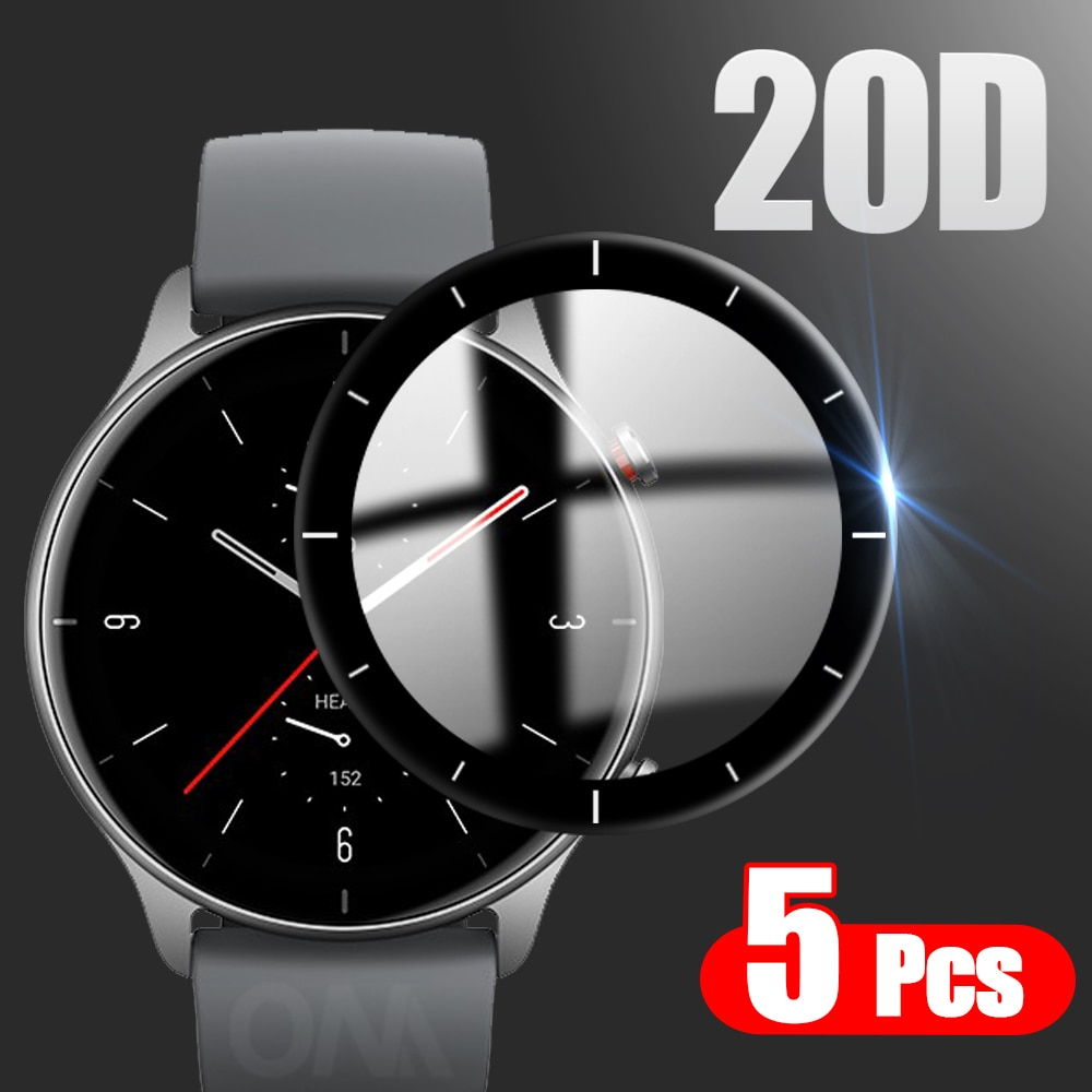 20D Full Coverage Screen Protector for Xiaomi Huami Amazfit GTR 2E / 2 Sport Watch Global Hydrogel Protective Film (Not Glass
