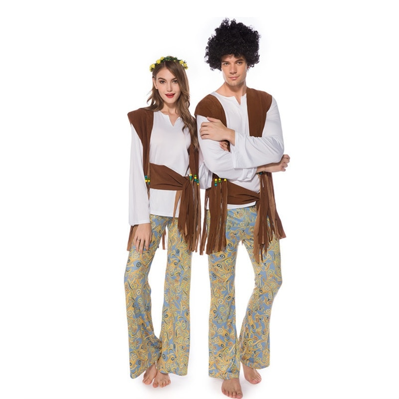 Trajes de palco de dança halloween cosplay adultos casais de mulheres indígenas primitiva indiana trajes selvagens roupas esportivas