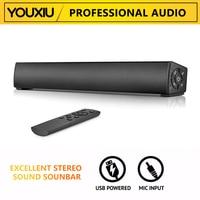 Звуковая панель YOUXIU 20 Вт для телевизора, проводная и беспроводная Bluetooth система для домашнего кинотеатра, звуковая панель объемного звучани...