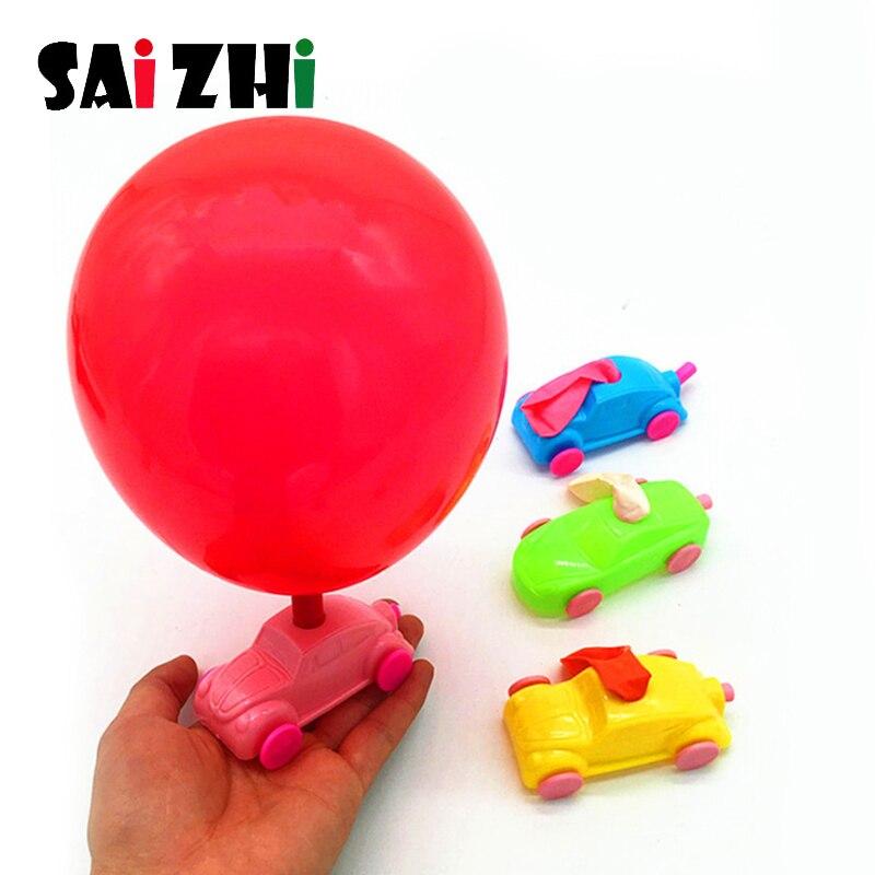 Saizhi 1 stücke Kinder DIY Ballon Powered Auto Spielzeug Physik Experiment Educational Kinder Spielzeug DIY Ballon Auto Kinder Spielzeug Geschenke