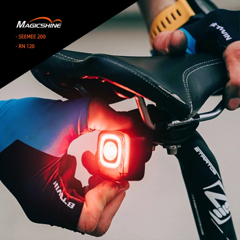 aliexpress.com - Magicshine Bicycle Smart Auto Brake Sensing Light SEEMEE 200 RN 120 LED Charging Bike Rear Light Cycling Taillight Acce