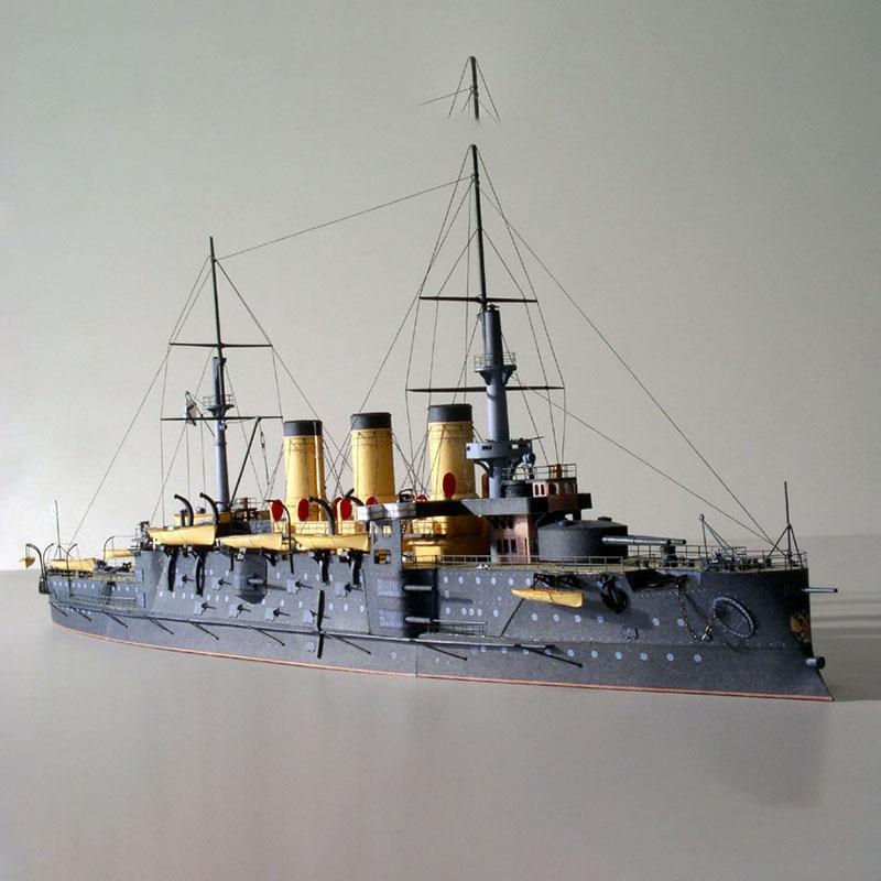1250 Marina Rusa acorazado Osrabian DIY 3D modelo de tarjeta de papel juegos de construcción juguetes educativos modelo militar
