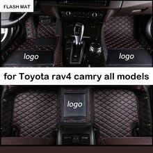Custom LOGO car floor mats for toyota corolla rav4 camry auris prius fortuner yaris land cruiser all models car mats