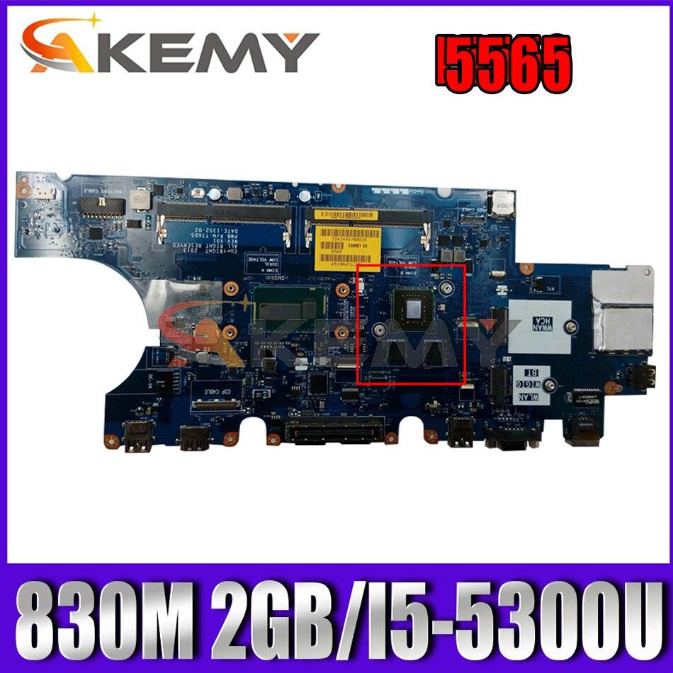 Akemy 830 متر 2 جيجابايت لأجهزة الكمبيوتر المحمول Dell Latitude E5550 اللوحة الأم ZAM81 LA-A913P CN-0D1D9C D1D9C T76D5 اللوحة الرئيسية 100% تم اختبارها