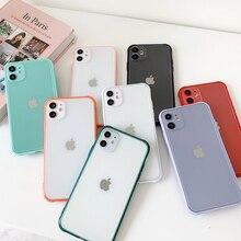 Матовый Прозрачный чехол ярких цветов для iPhone 11Pro Max XR X XS 7 8 plus 6 6S SE2020, прозрачный мягкий ударопрочный чехол из ТПУ