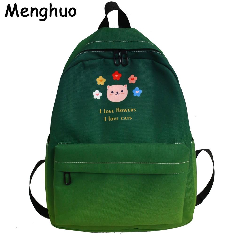 Menghuo nuevo colorido mujeres Mochilas de bolsas para la Escuela de las niñas adolescentes de viaje bolso de hombro de colegio Arco Iris bolsa Mochilas