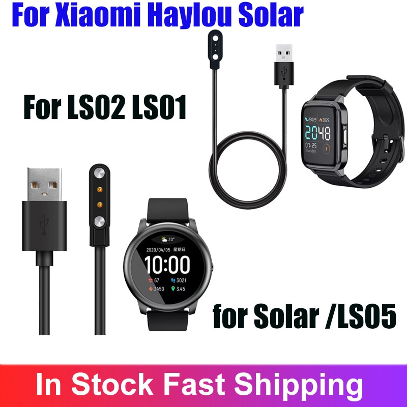 Smartwatch Dock Charger Adapter USB Charging Cable Base Cord Wire For Xiaomi Haylou Solar LS05/LS02/