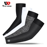 west biking sports arm sleeves ice fabric uv protection cycling running basketball arm warmer outdoor fitness compression sleeve