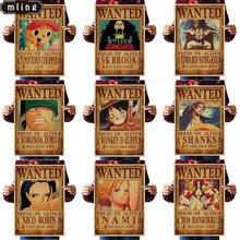 51.5X36 Cm Home Decor Muurstickers Vintage Papier Een Stuk Wilde Posters Anime Posters Luffy Chopper Wilde
