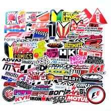 100 pièces drôle mot voiture autocollants sur moto valise décor téléphone portable couvre bricolage vinyle autocollant bombe JDM voiture style F2