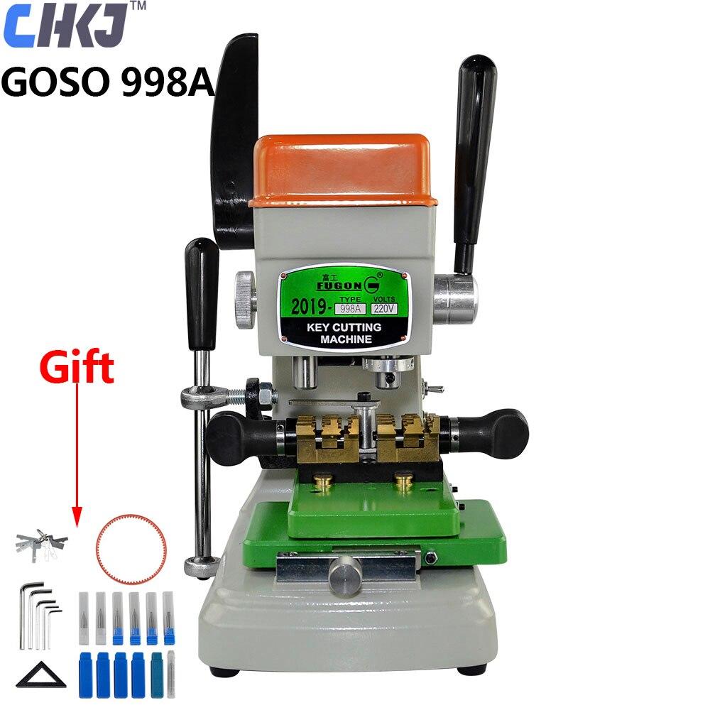 CHKJ GOSO 998A Vertical Key Cutting Machine 220V Key Cutter Copy Duplicating Machine Car Door Key Drill Maker Locksmiths Tools
