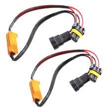 2pcs 9005 9006 hb3 hb4 50W 6Ω LED Canbus 부하 저항 컨트롤러 경고 취소 기 LED 디코더 빛 오류 무료 12V 저항