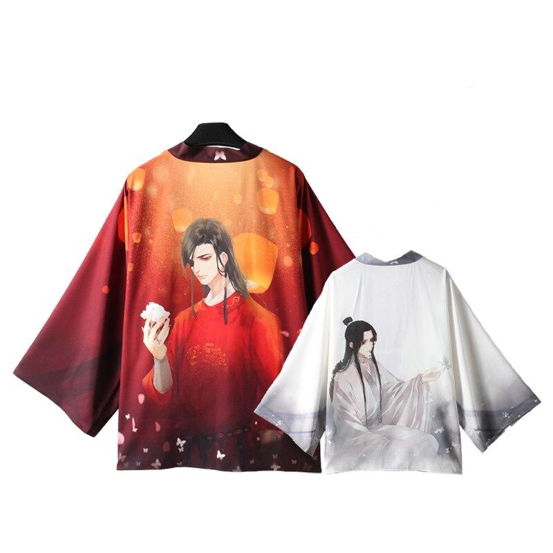 1 Uds. La bendición del oficial del cielo de Maxie Lian Kimono Yukata prendas de vestir unisex Albornoz haori abrigo Cosplay Prop para Mujeres Hombres regalo