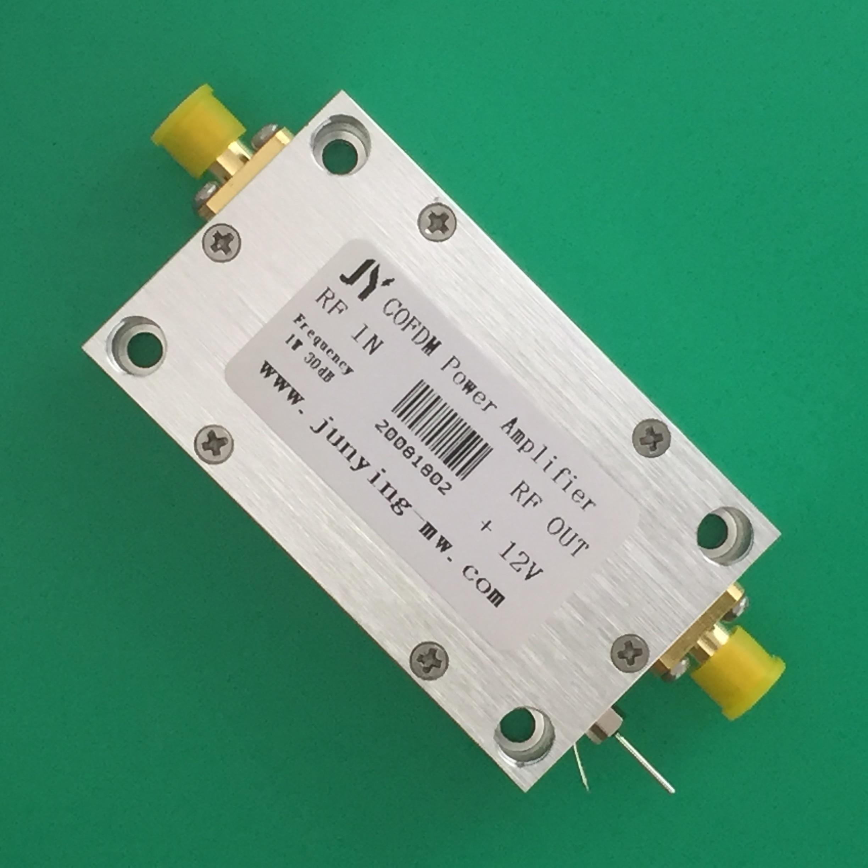 Dvb-t COFDM نقل الصور الرقمية مكبر كهربائي 100-550mhz مكبر كهربائي 1 واط