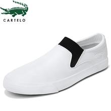 CARTELO zapatos casuales transpirables de moda para hombre versión coreana de cómodos pies perezosos de los hombres set tobillo zapatillas hombre
