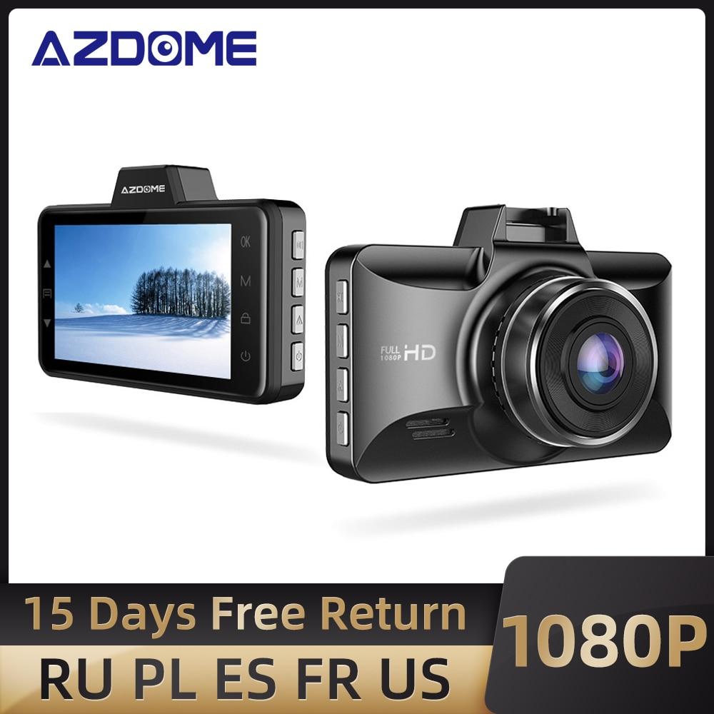 "AZDOME 3 "" M01 Pro Car DVR IPS Screen 1080P Dual Lens Dash Cam Driving Recorder Night Vision G-Sensor Loop Recording Camera Car"