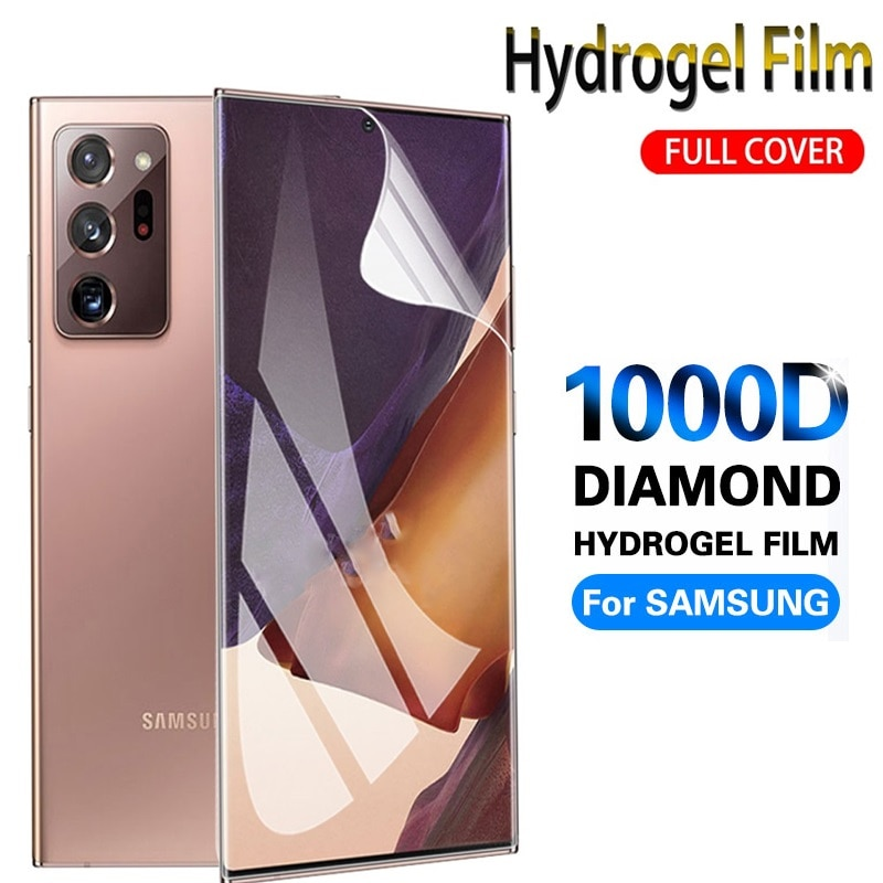 1000D Full Cover Screen Protector For Samsung Galaxy Note 20 Ultra 5G Hydrogel Film Galaxy Note 20 Ultra 5G Not Glass