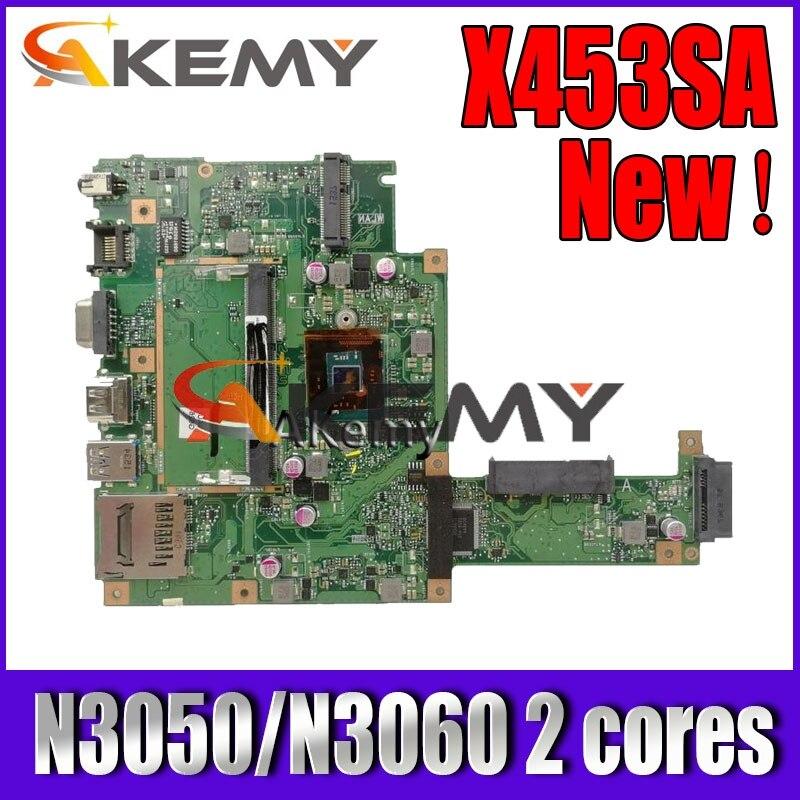 Akemy X453SA материнская плата для ноутбука N3050/N3060 2 ядра для For Asus X453S X453SA X453 F453S Материнская плата Тест 100% ОК