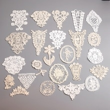 5PCS / Lot Lace Applique DIY Handmade Clothes Patch Embroidery Decorative Jeans Applique Craft Clothing Accessories